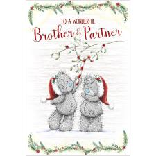 Wonderful Brother & Partner Me to You Bear Christmas Card