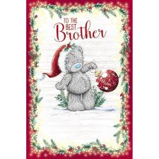 To The Best Brother Me to You Bear Christmas Card