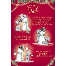 Brilliant Dad Verse Poem Me to You Bear Christmas Card