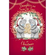 Daughter & Son In Law With Gingerbread Man Me to You Bear Christmas Card