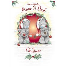 Special Mam & Dad Me to You Bear Christmas Card