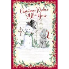 Christmas Wishes To All Of You Me to You Bear Christmas Card