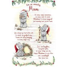 Amazing Mum Verse Poem Me to You Bear Christmas Card