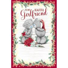 Beautiful Girlfriend Bears Kissing Me to You Bear Christmas Card