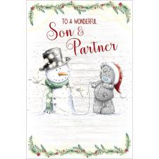 Wonderful Son & Partner Me to You Bear Christmas Card