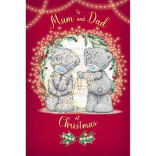 Mum & Dad Tangled Lights Me to You Bear Christmas Card