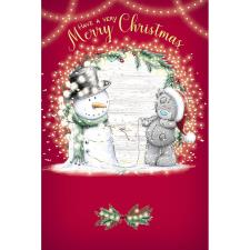 Tatty Teddy With Snowman Me to You Bear Christmas Card