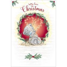 Tatty Teddy Holding Love Heart Lights Me to You Bear Christmas Card