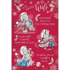Beautiful Wife Verse Me to You Bear Christmas Card