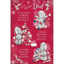 Brilliant Dad Verse Me to You Bear Christmas Card
