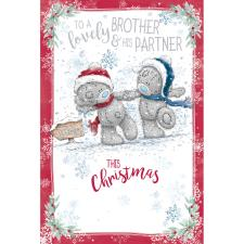 Lovely Brother & Partner Me to You Bear Christmas Card