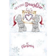 Lovely Daughter Me to You Bear Christmas Card