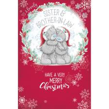 Lovely Sister & Brother In Law Me to You Bear Christmas Card