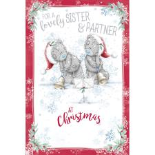 Lovely Sister & Partner Me to You Bear Christmas Card