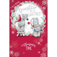 Special Daughter & Partner Me to You Bear Christmas Card