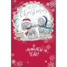Bears Holding Hands Me to You Bear Christmas Card