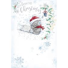 Tatty Teddy Pulling Sledge Me to You Bear Christmas Card