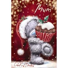 Mum Holding Cupcake Softly Drawn Me to You Bear Christmas Card