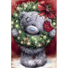 To Both Softly Drawn Me to You Bear Christmas Card
