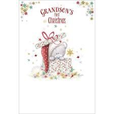 Grandsons 1st Tiny Tatty Teddy Me to You Bear Christmas Card