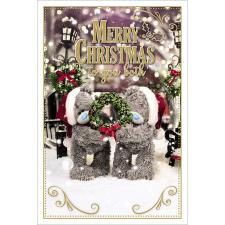 Merry Christmas To You Both Photo Finish Me to You Bear Christmas Card