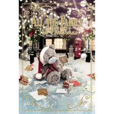 To All The Family Photo Finish Me to You Bear Christmas Card