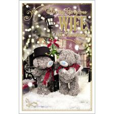 Gorgeous Wife Photo Finish Me to You Bear Christmas Card