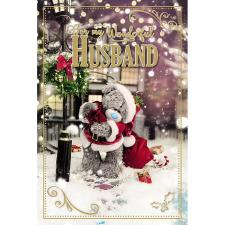 Wonderful Husband Photo Finish Me to You Bear Christmas Card