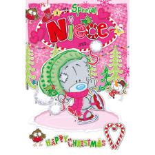 Special Niece My Dinky Bear Me to You Bear Christmas Card