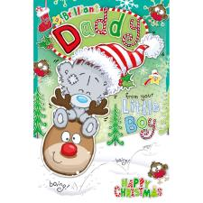 Daddy From Little Boy My Dinky Bear Me to You Bear Christmas Card