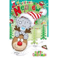 Brilliant Nephew My Dinky Bear Me to You Bear Christmas Card