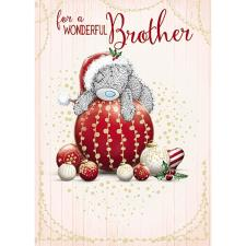 Wonderful Brother Me To You Bear Christmas Card