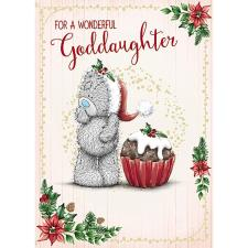 Wonderful Goddaughter Me To You Bear Christmas Card