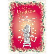 Special Godson Me to You Bear Christmas Card