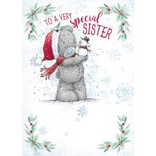 Very Special Sister Me to You Bear Christmas Card