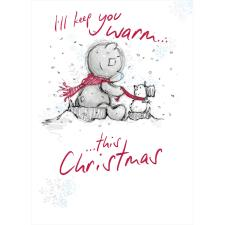 Bear With Small Snowman Me to You Bear Christmas Card