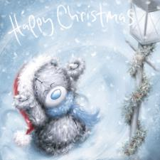 Softly Drawn Bear In Hat And Scarf Me to You Bear Christmas Card