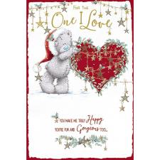 One I Love Pop Up Me to You Bear Christmas Card