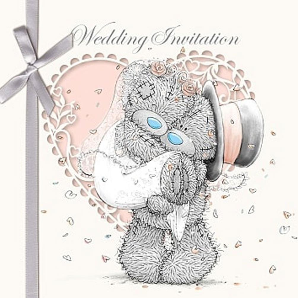 Wedding Invitation Me to You Bear Cards (Pack of 6) (A01GS027) : Me ...