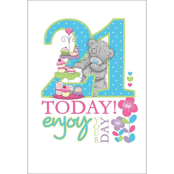 21 Today Me To You Bear 21st Birthday Card (A01LS087) : Me