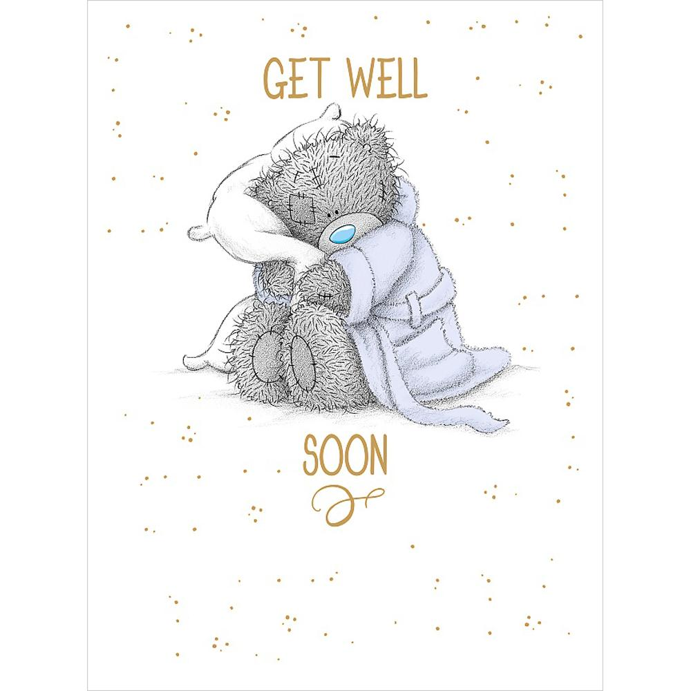 Get Well Soon Large Me To You Bear Card A01ls127 Me To