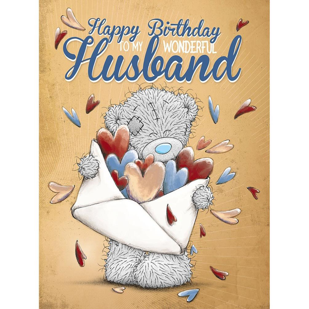Wonderful Husband Large Me To You Bear Birthday Card