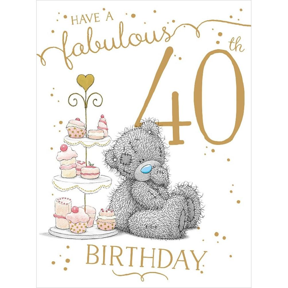 Fabulous 40th large me to you bear birthday card a01ls141 me fabulous 40th large me to you bear birthday card 359 bookmarktalkfo Image collections