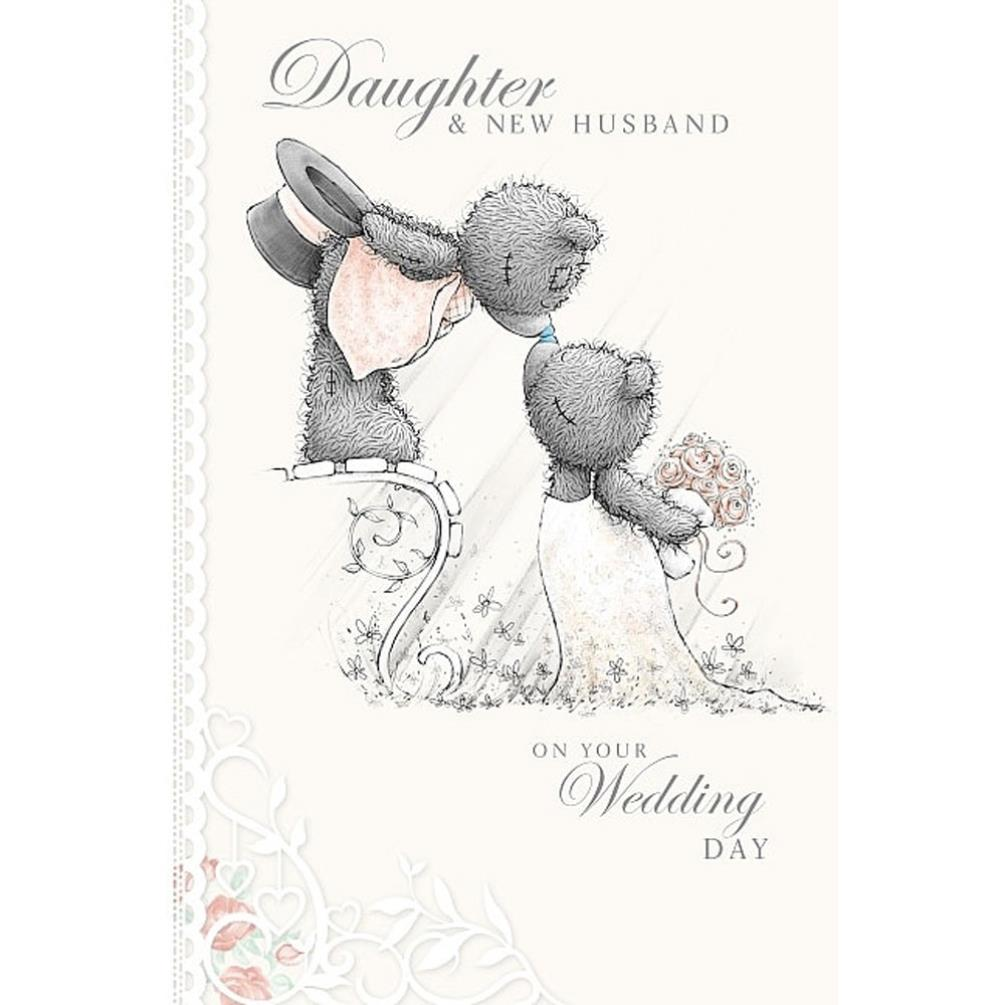 Daughter and New Husband Me to You Bear Wedding Day Card (A01MN132 ...