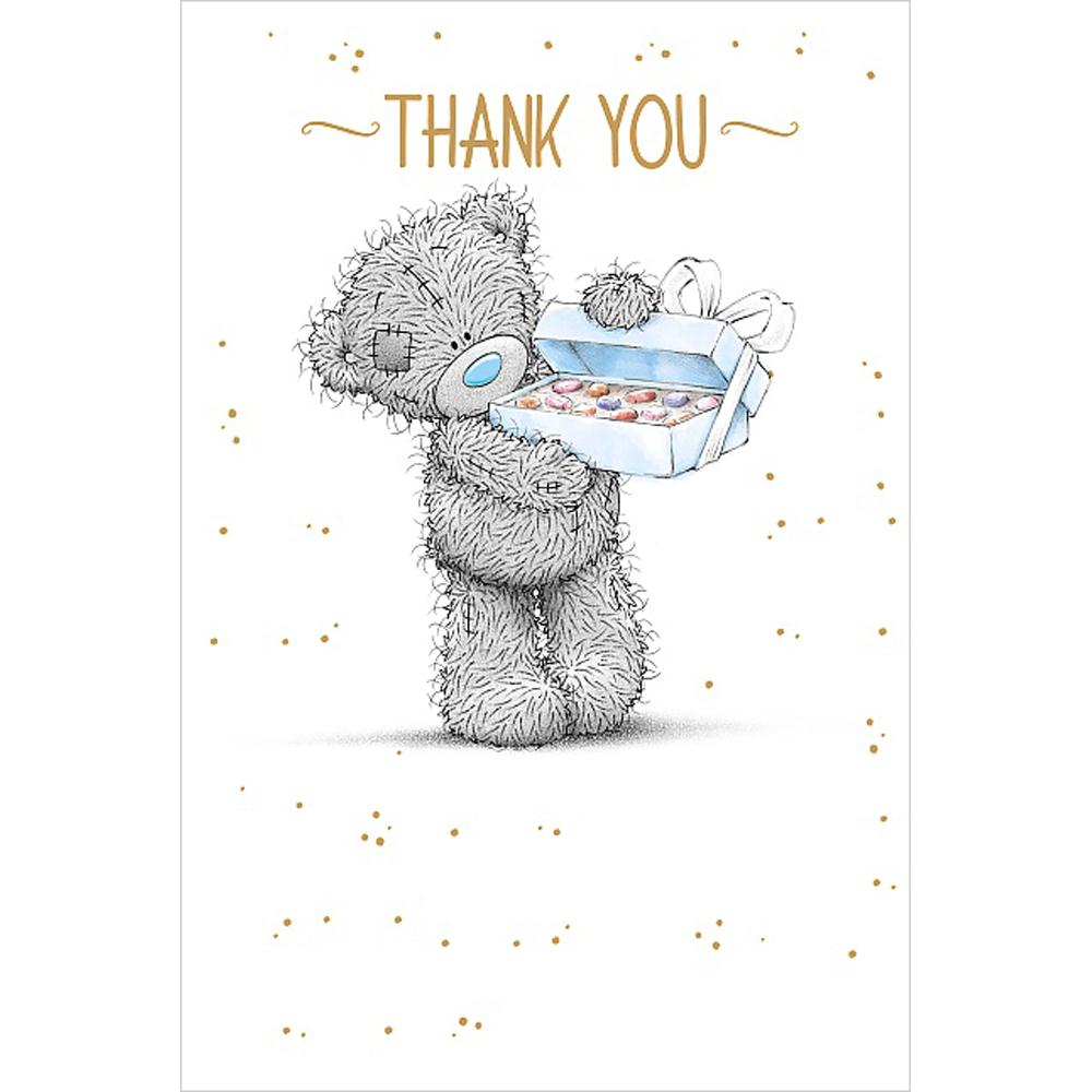 Box of chocolates me to you bear thank you card a01ms341 for Me to u pictures