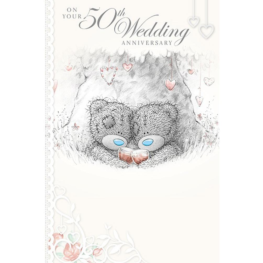 50th Wedding Anniversary Me To You Bear Card A01ms345