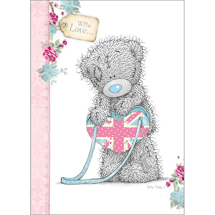 Tatty Teddy with Union Jack Birthday Me to You Bear Card A01SS232 – Tatty Teddy Birthday Cards