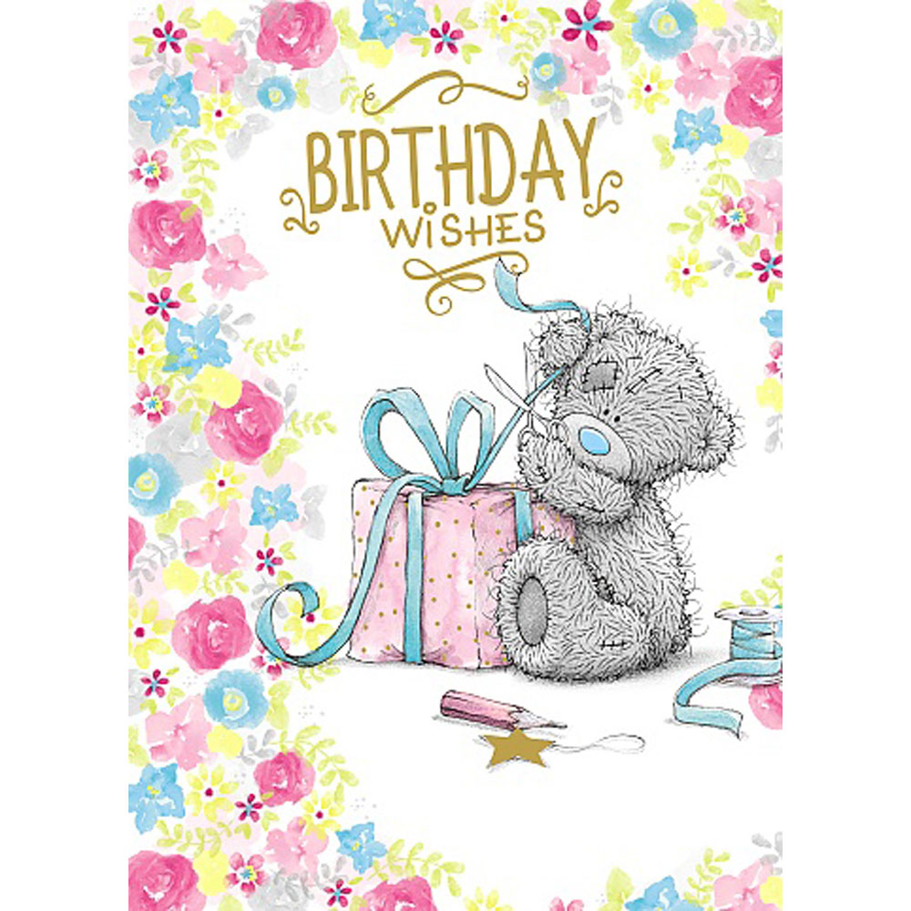 Birthday Wishes Me To You Bear Card A01ss476 Me To You Bears Online Store