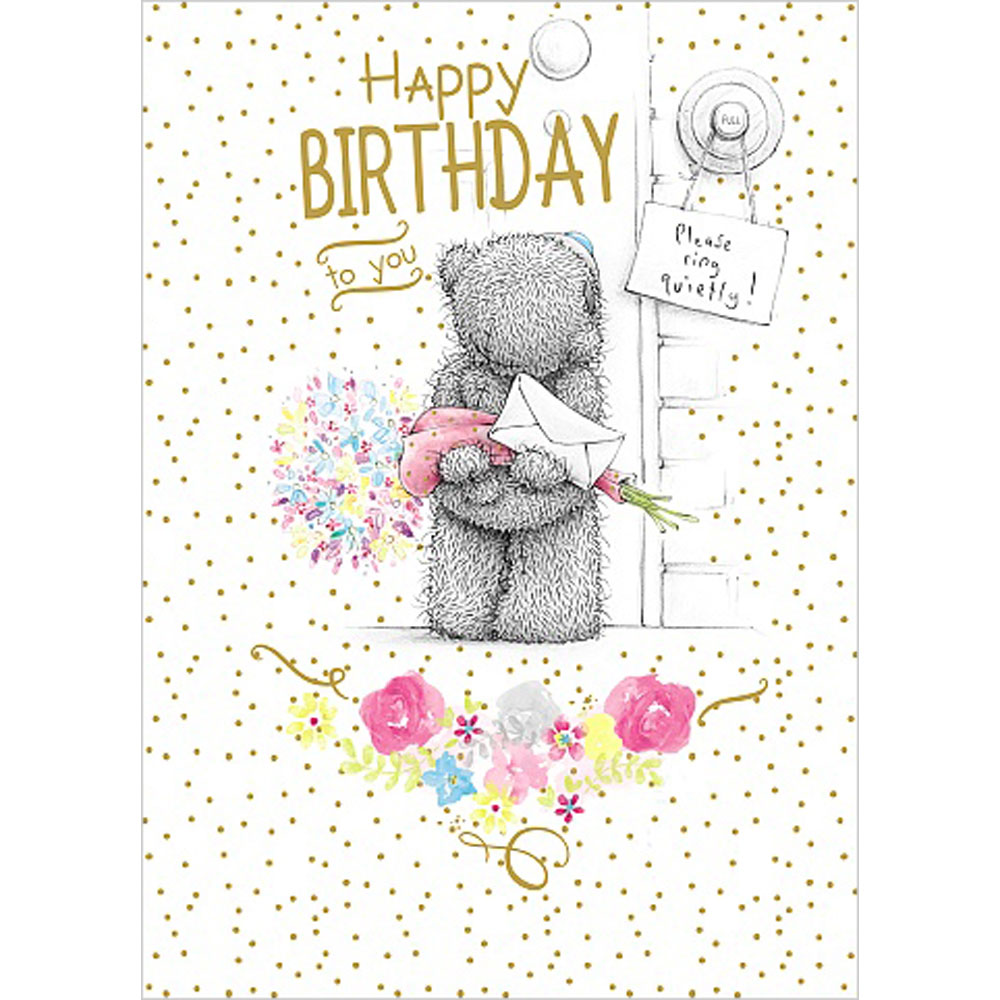 Happy Birthday Surprise Me To You Bear Card (A01SS478