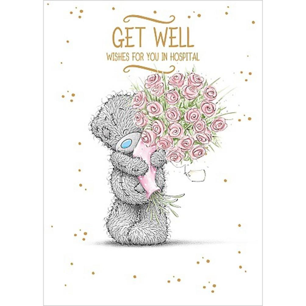 Get Well In Hospital Me To You Bear Card A01SS532 Me